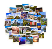 Stack of Norway travel shots — Stock Photo