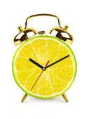Reloj hecho de la fruta — Foto de Stock
