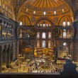 Mosaic interior in Hagia Sophia at Istanbul Turkey — Stock Photo #63609127