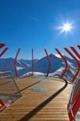 Viewpoint at mountains ski resort Bad Gastein - Austria — Stock Photo