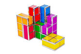 Tetris toy blocks — Stock Photo