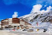Montanha de ski resort obergurgl áustria — Fotografia Stock