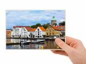Fotografía de viajes de Noruega en mano (Stavanger) — Foto de Stock
