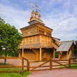 Wooden church in Kolomenskoe - Moscow Russia — Stock Photo #65398071