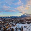 Salzburg Austria at sunset — Stock Photo #65629091