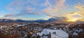 Salzburg Oostenrijk bij zonsondergang — Stockfoto