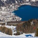 Mountains ski resort St. Gilgen Austria — Stock Photo #66225665