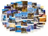 Stack of mountains ski Austria images (my photos) — Stock Photo