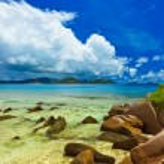 Tropical island at Seychelles — Stock Photo #67652927