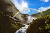 Водопад Кьосфоссен гигант в flam - Норвегия — Стоковое фото