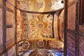 Mosaic interior in Chora church at Istanbul Turkey — Stock Photo