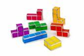 Tetris toy blocks — Stock Photo