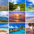 Collage of summer beach images — Stock Photo #68874803
