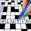 Crossword - Success and Solution — Stock Photo #69016119