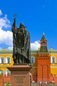 Monument of Patriarch in Kremlin Moscow - Russia — Stock Photo