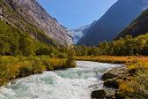 Waterfall near Briksdal glacier - Norway — ストック写真
