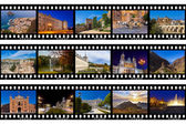 Frames of film - Spain travel images (my photos) — Stock Photo