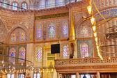 Interiér Modrá mešita v Istanbulu v Turecku — Stock fotografie