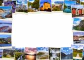Frame made of Norway travel images (my photos) — Stock Photo