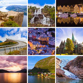 Collage of Norway travel images (my photos) — Stock Photo