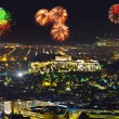 Fireworks in Athens Greece — Stock Photo #73612549