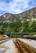 Train in Flam - Norway — Stock Photo