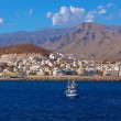 Beach Los Cristianos in Tenerife island - Canary — Stock Photo #74168429