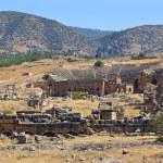 Amphitheater ruins at Pamukkale Turkey — Stock Photo #75071513