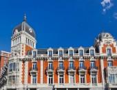 Famous building at Plaza Espana - Madrid Spain — Stock Photo