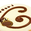Big circle cake — Stock Photo #76293619