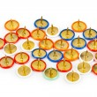 Heap of multicolored pins — Stock Photo #77592620