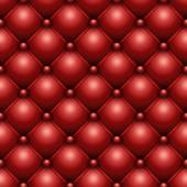Seamless red buttoned leather upholstery texture. — Stock Vector