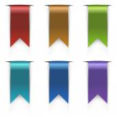 Color flag tags vector set — Stock Vector
