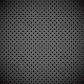 Abstract industrial perforated metal plate vector background. — Vettoriale Stock