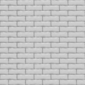 Seamless white brick vector square texture. — ストックベクタ