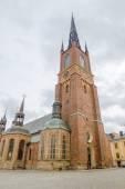 Riddarholmen Church tower at Stockholm, Sweden. — Stock Photo