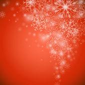 Boże Narodzenie śnieżynka przepływu czerwone tło z kopii przestrzeni. — Wektor stockowy