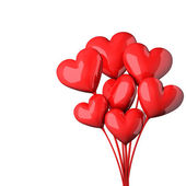 Abstract red hearts bouquet Valentines day card. — Foto de Stock