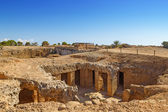 Ancient Paphos necropolis known as Tombs of the Kings, Cyprus. — Stock Photo