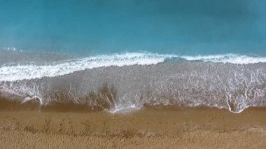 Sea waves and sand — Stock Video