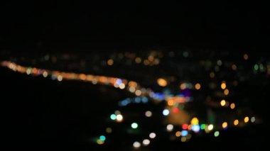 Night city blur — Stock Video