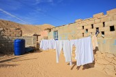 Drying clothes — Stock Photo