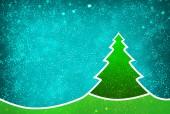 蓝色的圣诞树 — 图库照片