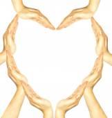 妇女的手让心的形状 — 图库照片