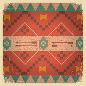 Native ethnic ornament of american indian — Vecteur