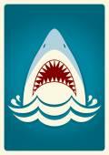 Shark jaws.Vector background illustration — Stock Vector