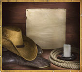Cowboy rodeo background for text — Stock Photo
