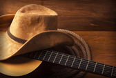 Country music background with guitar — Stock Photo