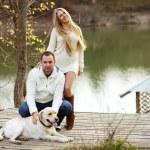 Couple with dog — Stock Photo #51802733