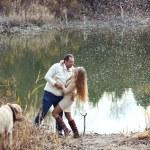 Couple with dog — Stock Photo #51803403